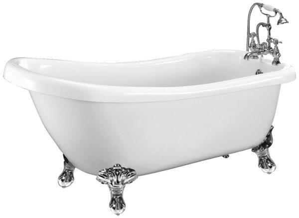 vrijstaand bad met hoge rug carlton slipper 155 cm