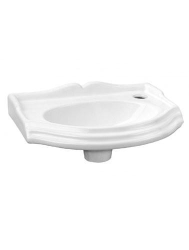 Klassiek landelijk toiletfonteintje 38cm wit