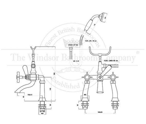 horton-studley-klassieke-badmengkraan-hs2522-met-k