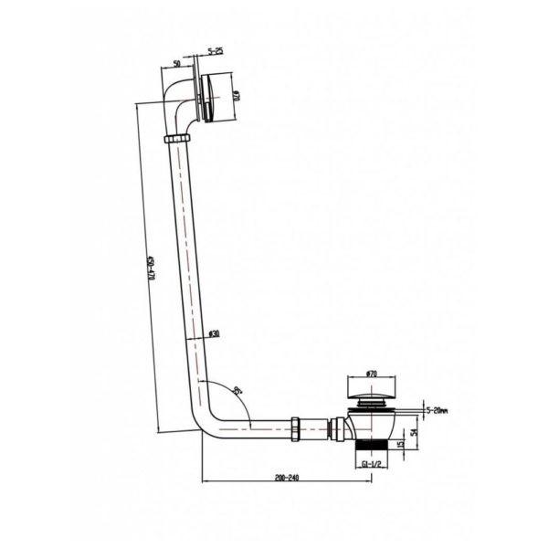 Badafvoer-klikklak-systeem-bouwtekening