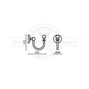 Enkel-wandmontage-wandhaak-bouwtekening