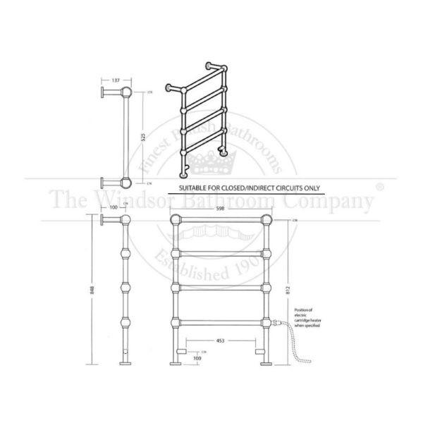 Handdoekradiator-cv-bouwtekening