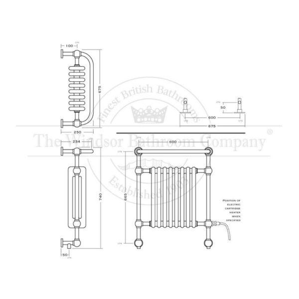 Handdoekradiator-cv-elektrisch-bouwtekening