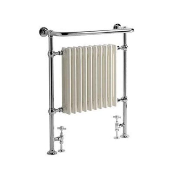 Handdoekradiator-horizontaal-nikkel-elektrisch