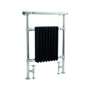 Handdoekradiator-verticaal-zwart-chroom