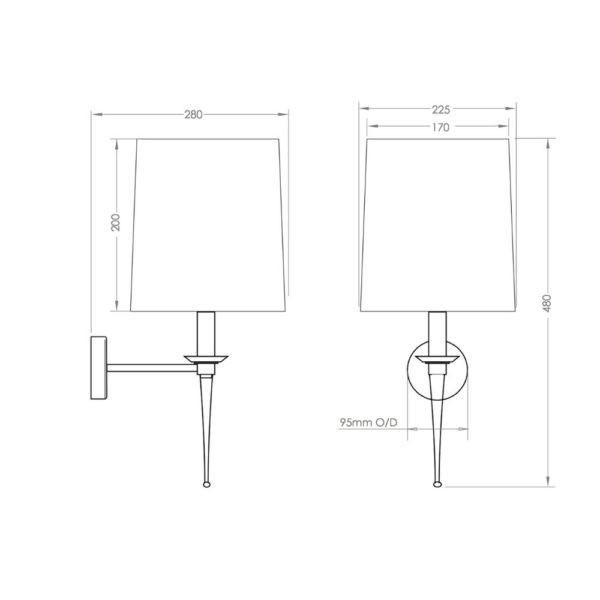 Lamp-verlichting-Pedant-Light-bouwtekening