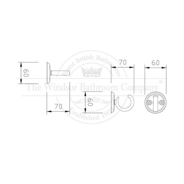 Wandhaak-enkel-wandmontage-bouwtekening