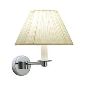 Wandlamp-Brokton-linnen-chroom-goud-nikkel