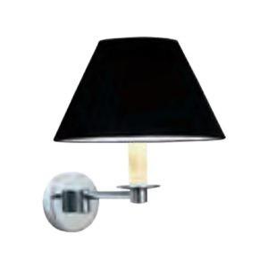 Wandlamp-Brokton-zwart-leer