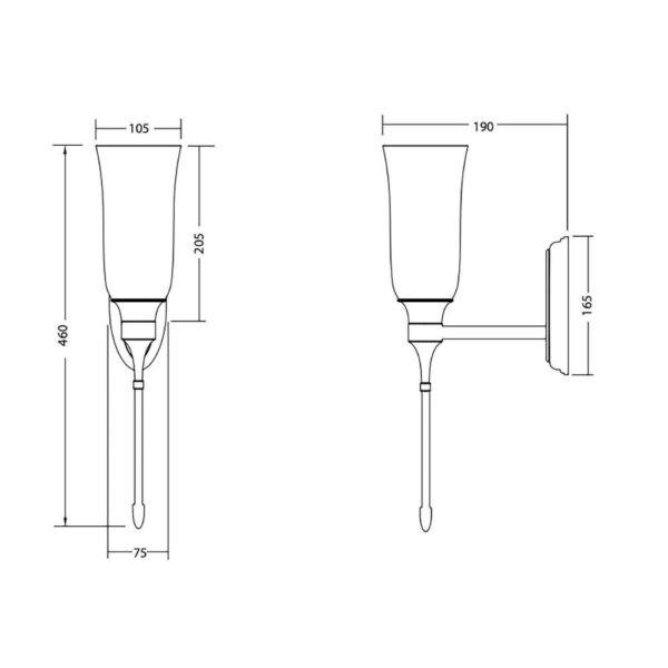 Wandlamp-Westminster-kaars-bouwtekening
