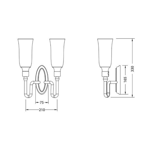 Wandlamp-dubbel-glas-bouwtekening