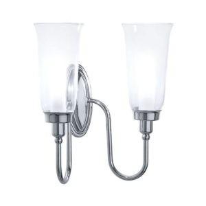 Wandlamp-dubbel-glas-chroom-goud-nikkel