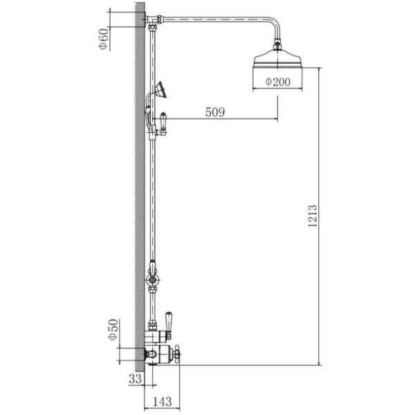 klassieke-opbouw-thermostatische-douchekraan-WB1850X1-afmetingen.1