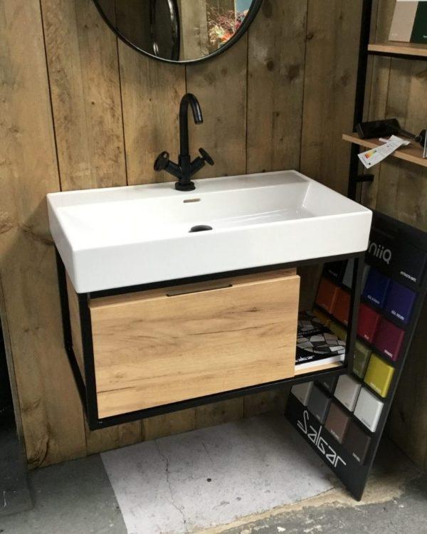 Industrieel-badkamermeubel-80cm-met-wastafel-sale