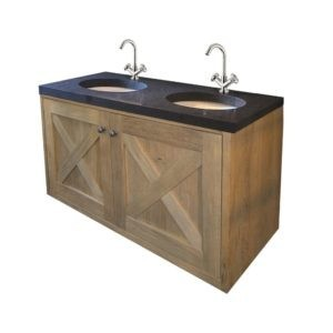 klassiek badkamermeubel massief hout wandmodel