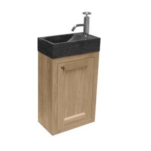 toiletmeubel hout muur montage met inbouw wastafel