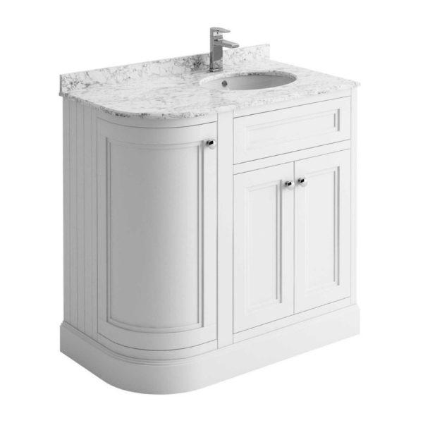 klassiek-badkamermeubel-wit-marmer-blad-hoek-90cm