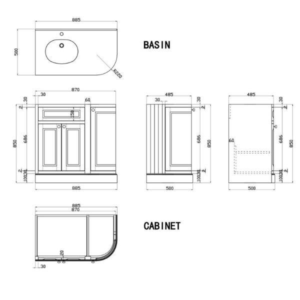 afmeting-badkamermeubel-parson-hoek-90cm